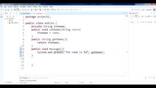 How to use get set in java