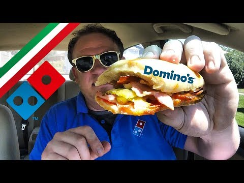 Domino's ☆ITALIAN 8-TOPPING SANDWICH☆ Food Review!!!