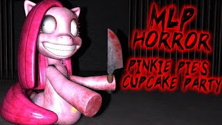PINKIE PIES CUPCAKE PARTY - Secret Glitch Ending?! (My Little Pony 3D Horror Game)