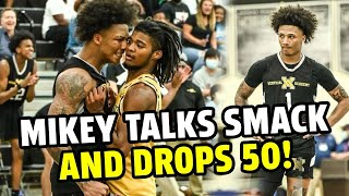 Mikey Williams Drops 50 On 'Em!! Angry Mikey Gets In Opponent's Face & GOES OFF 😈