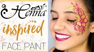 EASY Arm And Face Henna Inspired Face Paint Design *Line Work*