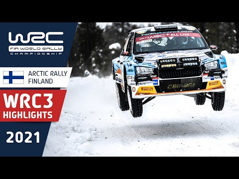 WRC3 2021 第2戦のラリーフィンランド 日曜日のハイライト動画