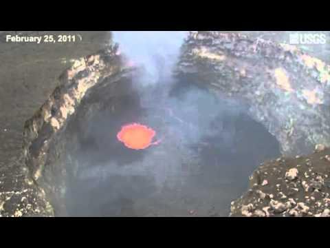 انهيار صخري في بحيرة الحمم .. فماذا حدث ؟ نعوذ بالله من النار