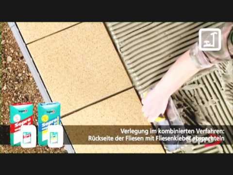 Terrassenfliesen verlegen - HERGET Produktinformation