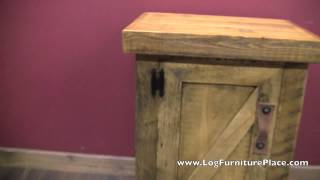 Alpine Heirloom Enclosed Barnwood Nightstand From LogFurniturePlace.com