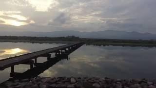 吉野川~潜水橋Phantom3Standardドローン空撮徳島
