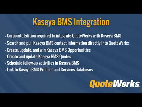 How to Use the Kaseya BMS Integration