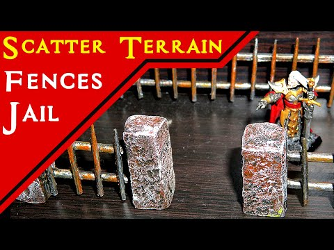 Simple Bridge, Fence & Wooden Walls (D&D Terrain Tutorial