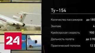Крушения Ту-154 за последние 15 лет