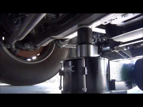 Lufthydraulischer Heber 40t.  Lkw A4020-C Compac Hydraulik Video