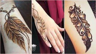 Feather #tattoo Mehndi Designs||simple #TattooMehndiDesigns