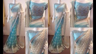Designer Party Wear Sarees 2019 | Stylish Saree Designs | New Party Wear Embroidered Saree Blouses