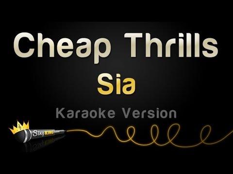 Sia - Cheap Thrills (Karaoke Version)