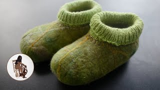 "HOW To Make ""Quick"" Wet Felted Slippers For The House, Family And Friends!"