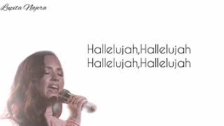 "Demi lovato - HALLELUJAH ""lyrics"""