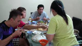 Chinese dinner at home
