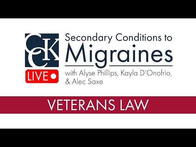 VA Secondary Conditions to Migraines
