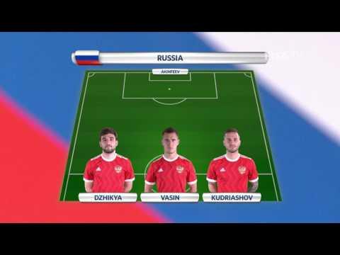 Match 9: Mexico v Russia -Team Lineups - FIFA Confederations Cup 2017