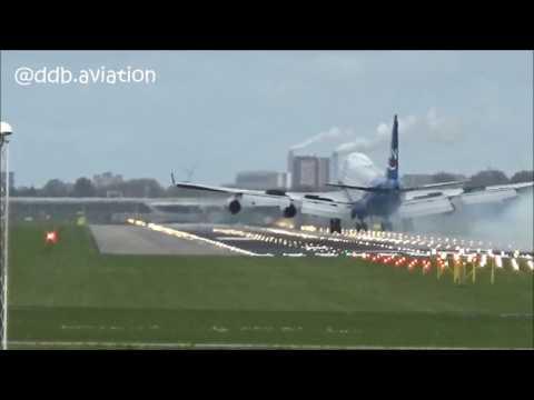 HARD LANDING!!! Silkway horror landing at Schiphol!!