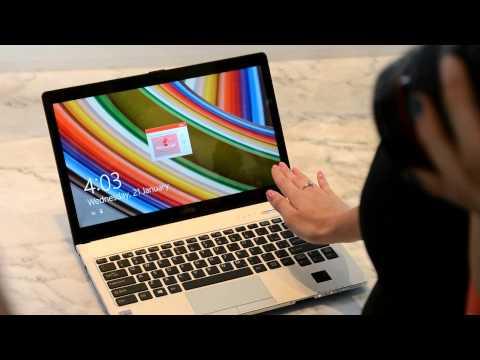 Fujitsu LIFEBOOK S935手掌靜脈辨識示範