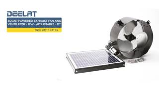 Solar Powered Exhaust Fan and Ventilator - 12W - Adjustable - 12