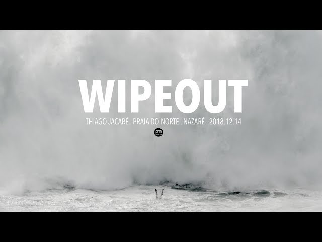 Wipeout . Thiago Jacaré . Raw Footage @ Nazaré, Portugal - 2018.12.14 [Surf, Big Waves, 4K]