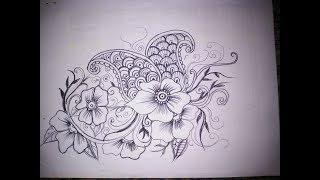 Cara Membuat Sketsa Batik Mega Mendung ฟรวดโอออนไลน ดทว