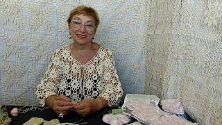 Вязание крючком для детей от О. С. Литвиной. Пинетки от прабабушки.