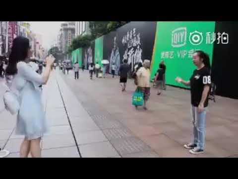 Kris Wu 6 meter ad in Shanghai