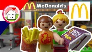 Playmobil filmpje Nederlands Bij de McDonalds - Familie Huizer