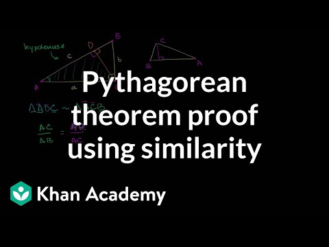 Pythagorean Theorem Proof Using Similarity | Geometry | Khan Academy Mp3