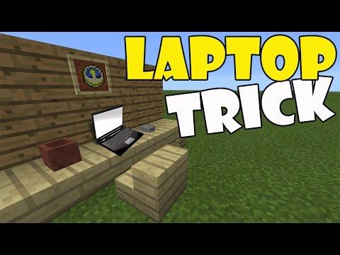 LAPTOP TRICK | Minecraft PE (Pocket Edition) MCPE