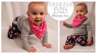 Reversible Bandana Bib | EASY How To | Whitney Sews