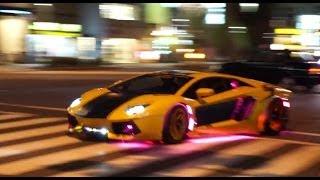 【都内ド真ん中】爆音!電飾!スーパーカー集団が出撃/Lamborghini Night In TOKYO