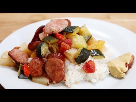 Sausage And Veggie Bake