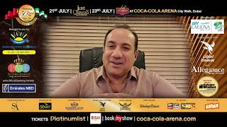 #UstadRahatFatehAliKhan excited to perform 2 back to back shows in Dubai next month.