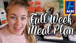 MEAL PLANNING HUGE ALDI HAUL - 7 DAY MEAL PLAN FOR FAMILY OF 4 - LOTTE ROACH