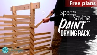 Not A Usual Paint Drying Rack | Adjustable - Foldable | FREE PLANS | Building My Workshop - Ep. 27