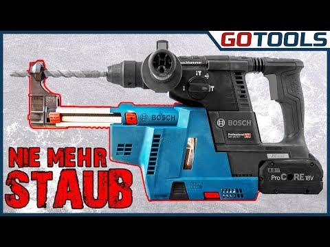 ENDLICH OHNE STAUB BOHREN | Bosch Absaugung GDE18V-16 für GBH18V-26