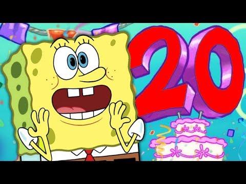 Spongebob's 20th Anniversary is TODAY!