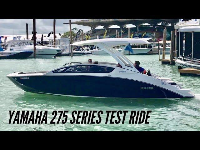 The NEW 2019 Yamaha 275 Series Jet Boat Test Ride - Yamaha Boats  for sale near Chicago