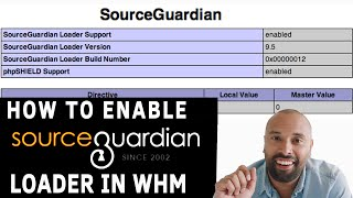 How to enable Source Guardian PHP Loader in WHM?