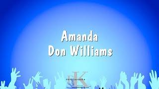 Amanda - Don Williams (Karaoke Version)