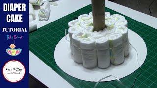 How To Make A Diaper Cake | Diaper Cake Tutorial | Baby Shower Ideas