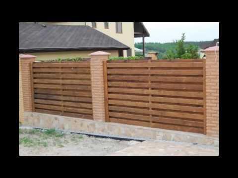 Сделать деревянный забор своими руками