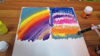 Easy Acrylic Painting For Beginners On Canvas| Painting Ideas For Kids | Abstract Art