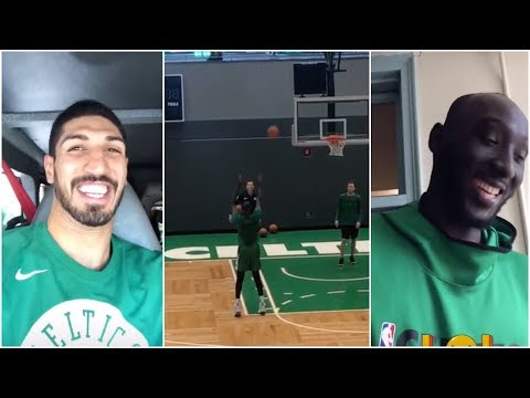 Enes Kanter is hyped to see how well Tacko Fall can shoot the ball