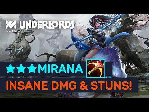 ★★★ MIRANA IS OP! Knockout: 7 Second Stun + 10K+ DMG Mirana! | Dota Underlords