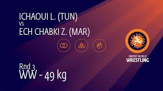 Round 3 WW - 49 kg: L. ICHAOUI (TUN) v. Z. ECH CHABKI (MAR)