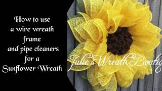 Sunflower Wreath Tutorial,  How To Make A Flower Wreath